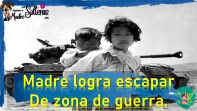Madre logra escapar de zona de guerra 13 1