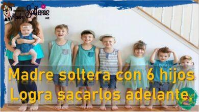 Madre soltera con 6 hijos logra sacarlos adelante