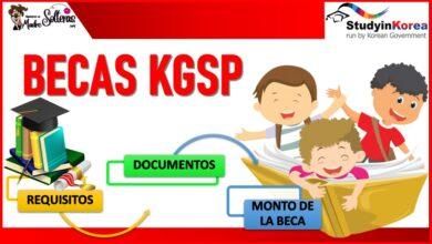 Becas KGSP 2021-2022