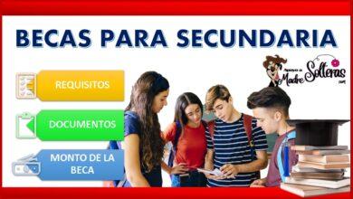 Becas para secundaria 2021-2022