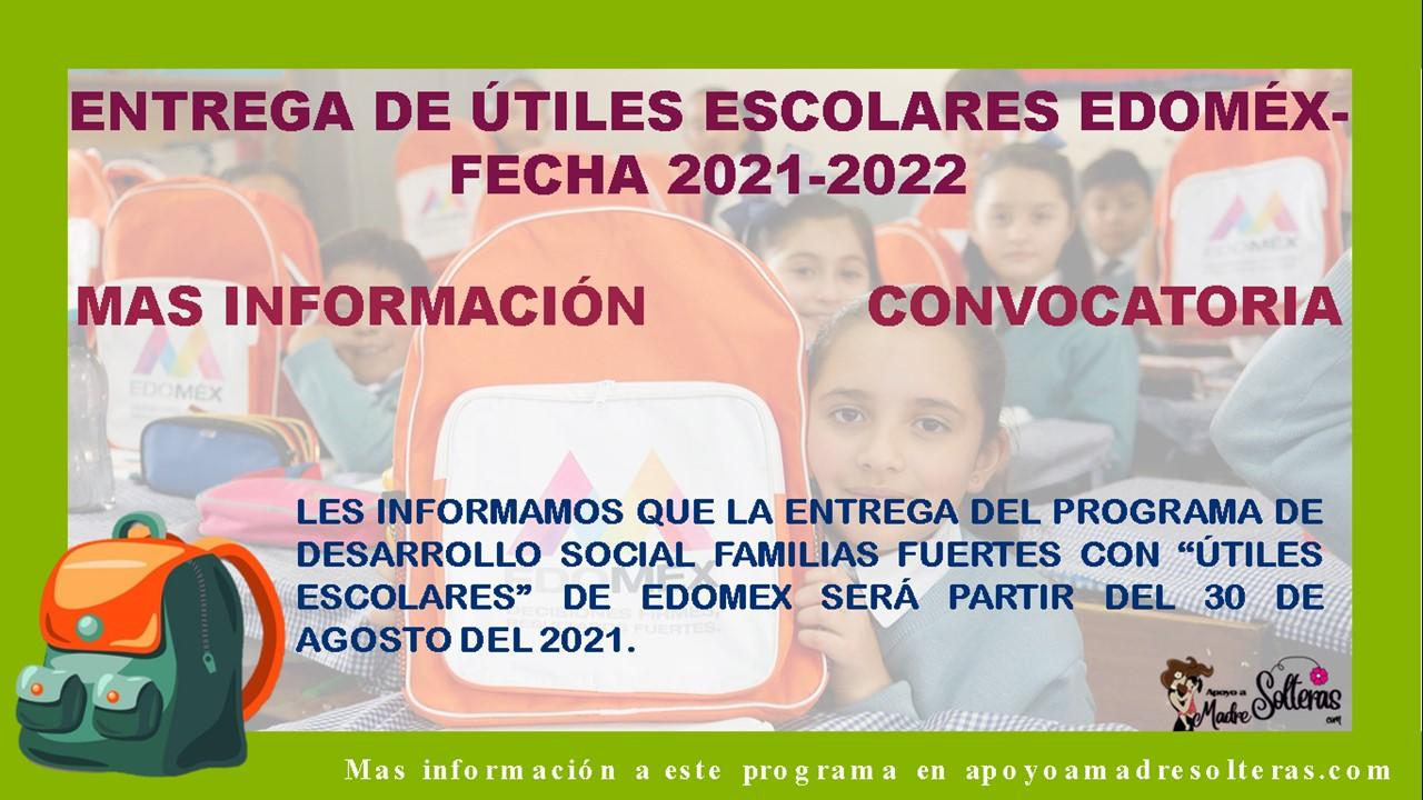 entrega-de-utiles-escolares-edomex-fecha-2021-2022